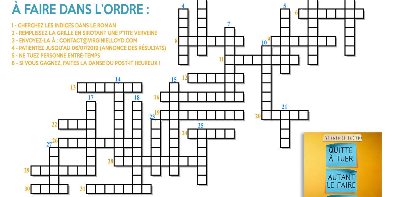 Grand concours «Les post-it croisés» de Lily !
